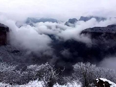 新乡南太行雪后美景