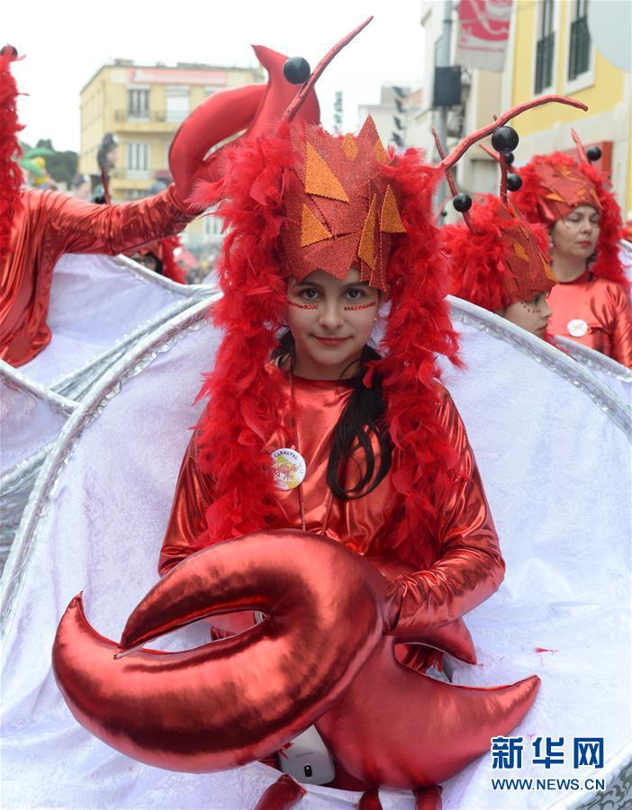 """(国际)(2)""""海洋生物""""走进葡萄牙小城狂欢节"""